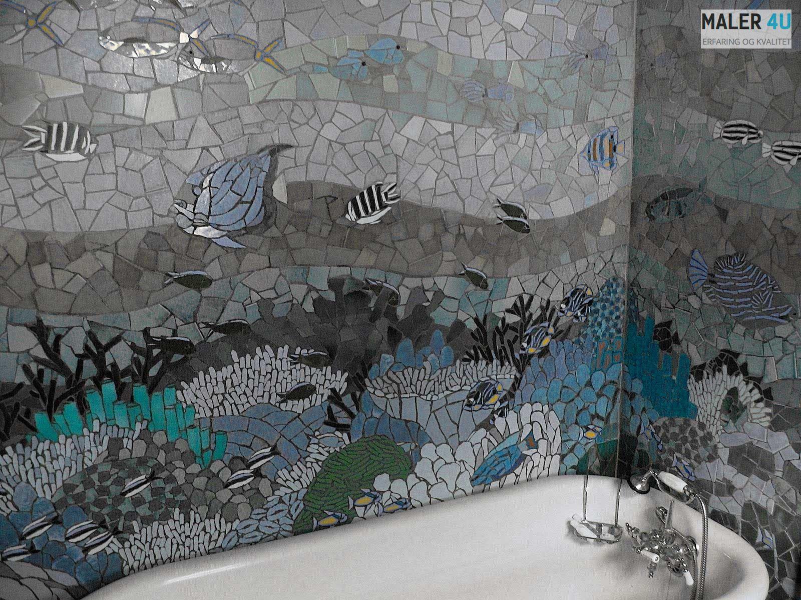 Bergen,Eidsvåg og Åsane,flisering vegg mosaik