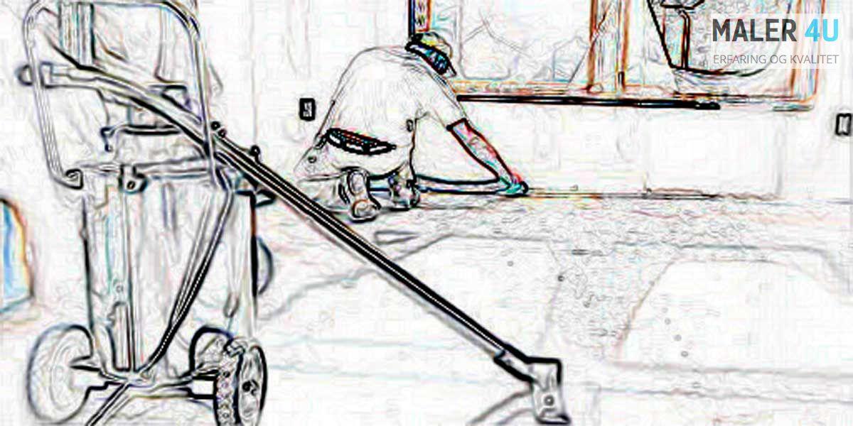 Rengjor vi og sjekker gulvet før installere vi laminatet i Askoy,Bergen og Åsane